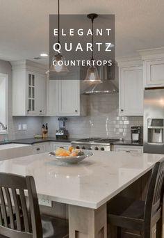 Pentalquartz pearl white polished quartz countertops kitchens pinterest white polish for Exquisite kitchen design south lyon