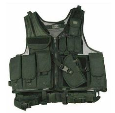 Airsoft Funsport US Tactical Combat Weste Molle light HDT camouflage FG Vest