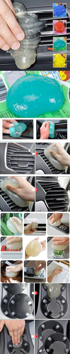 DWCX Green Magical Car Air Outlet Vent Dashboard Conditioner Interior Cleaning Tool For Ford Audi BMW Honda Mercedes Mazda VW