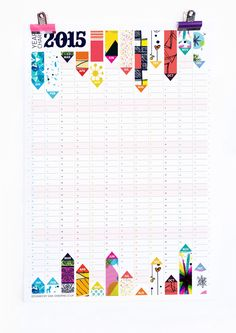 Wall Planner 2015 Calendar Office Organiser Pattern Reversible Design HG Wells Quote by SamOsborneStore on Etsy https://www.etsy.com/listing/158831202/wall-planner-2015-calendar-office