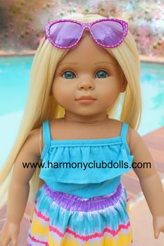 "HARMONY CLUB DOLLS <a href=""http://www.harmonyclubdolls.com"" rel=""nofollow"" target=""_blank"">www.harmonyclubdo...</a> 18"" Doll clothes to fit American Girl"