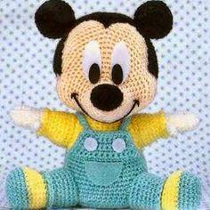 Patrones Amigurumi: Baby Mickey