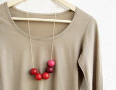 obsessed.  Bright Handmade round beads Necklace. $32.00, via Etsy.