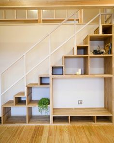 Staircase Storage, Stair Storage, Staircase Design, Tiny House Stairs, Loft Stairs, Small House Design, Bedroom Loft, Easy Home Decor, Home Interior Design