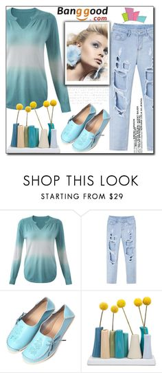 """Casual Outfit by Banggood 5/10"" by esma178 ❤ liked on Polyvore featuring Dot & Bo"