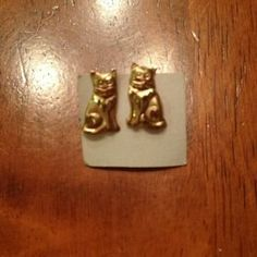 I just discovered this while shopping on Poshmark: Cat earrings. Check it out!  Size: OS