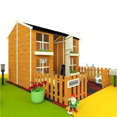7 x 5 Childrens Kids Child Kit Wooden Wendy Ginger Playhouse Play Outdoor Garden