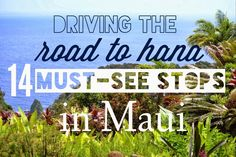 14 Must see stops on the road to Hana