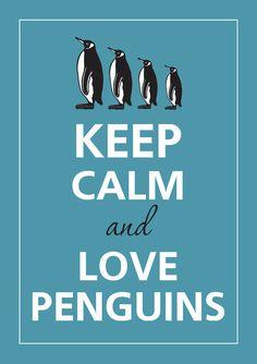 Gardez votre calme et aime les pingouins par KCalmGallery sur Etsy