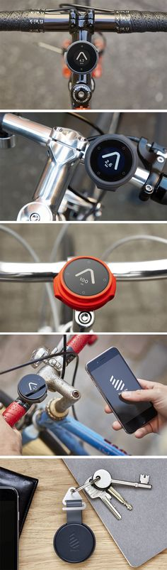 Designed to simply get you from point A to B by allowing you to choose your own route, the Beeline is a rather elegant little GPS/Compass/Speedometer that puts most smart-bike apps and dashboards to shame. In a lot of ways, Bike Gadgets, High Tech Gadgets, Technology Gadgets, Industrial Design Sketch, Id Design, Bike Style, Cool Tech, Transportation Design, Iphone Case Covers