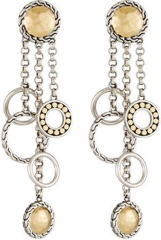 Shop Palu Bulan Chandelier Earrings from John Hardy at Neiman Marcus Last Call, where you'll save as much as on designer fashions. John Hardy Jewelry, Black Sapphire, Chandelier Earrings, Ear Piercings, Handcrafted Jewelry, Jewelry Design, White Gold, Jewelry Making, Chain