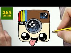 COMMENT DESSINER LOGO INSTAGRAM KAWAII ÉTAPE PAR ÉTAPE – Dessins kawaii facile - YouTube