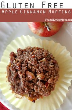 Gluten Free Apple Cinnamon Muffins- Super yummy and nutritious Gluten Free Muffins, Gluten Free Sweets, Gluten Free Baking, Vegan Gluten Free, Gf Recipes, Dairy Free Recipes, Recipies, Healthy Cooking, Healthy Snacks