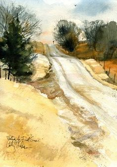 """""""Waiting for the First Snow"""" - Cathy Johnson Fall landscape"""