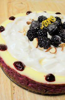 49 Dresses: Lemon Blackberry Cheesecake with Meringue Topping