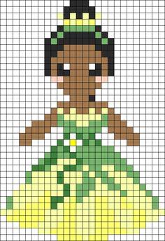 Princess Tiana Perler Bead Pattern / Bead Sprite