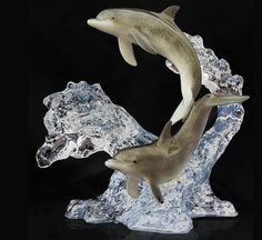 WYLAND GALLERIES, dolphin sculpture - web source -MR