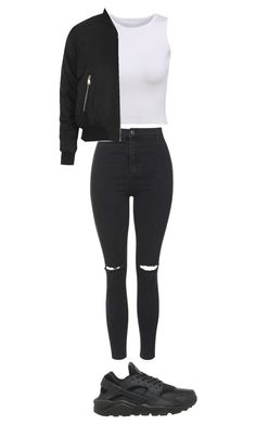 """Untitled #20"" by pizzalover247 ❤ liked on Polyvore featuring NIKE and Topshop"