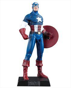 Marvel Figurines - Edição 09 - Capitão América | Loja Eaglemoss - Coleções