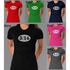 Los Angeles Pop Art Women's John 3:16 T-shirt ( - )