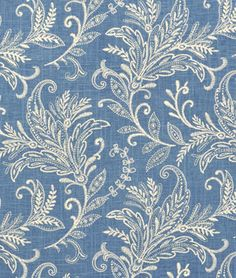 Mill Creek lovely blue and white fabric pattern
