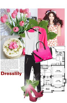 """""""Inspired by Pink for Dresslily"""" by advent68 ❤ liked on Polyvore"""
