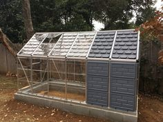 Absolutely LOVE my Took a while to assemble but it was so worth it! Great way to relax. for spring! Polycarbonate Greenhouse, Polycarbonate Panels, Storage Sheds, Greenhouse Gardening, Ways To Relax, Greenhouses, Homesteading, Tiny House, Gardens