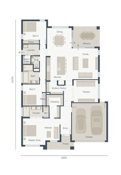 Lalo and I love the layout of Mainvue homes which combine Australian and Japanese architecture. We've been looking for a rambler layout, and here it is! Henley Homes, Melbourne House, Cinema Room, Japanese Architecture, New Home Designs, Amalfi, Open Plan, Home Builders, My Dream Home