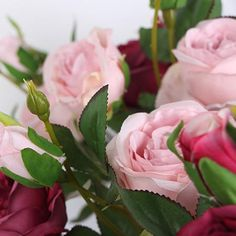 52 best artificial flowers rose images on pinterest art flowers silk 3 rose bloom stem in light pink and purple red 17 mightylinksfo
