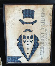 Tim Holtz Dapper die Father's Day card  #timholtz, #dapper, #fathersday, #vintage  www.facebook.com/grandmassilverwearables