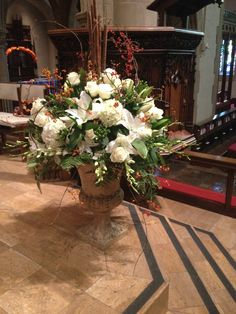 All Saints Day pulpit flowers