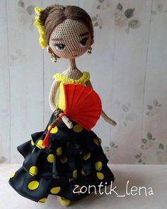 Las Razas del Mundo en Amigurumis | Otakulandia.es Crochet Doll Pattern, Easy Crochet Patterns, Crochet Patterns Amigurumi, Amigurumi Doll, Doll Patterns, Yarn Dolls, Knitted Dolls, Crochet Cross, Crochet Art