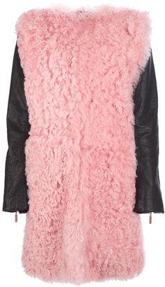 CEDRIC CHARLIER Pink Oversized Bicolour Jacket - Lyst