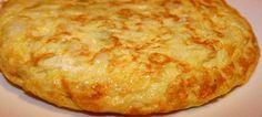 Tortilla de pan, ajo y bacalao