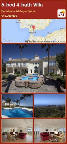 5-bed 4-bath Villa in Benahavis, Malaga, Spain ►€12,000,000 #PropertyForSaleInSpain