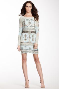 JLS Sequin and Knit Trim Dress by JLS on @HauteLook