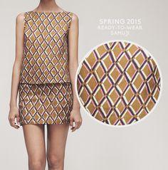 Spring 2015 Ready-to-Wear - SAMUJI  #print #ss15 #samuji #fabric #textile #textileprint #textiledesign #fabricprint