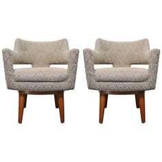 Pair of Early Dunbar Swivel Chairs by Edward Wormley ca1940's