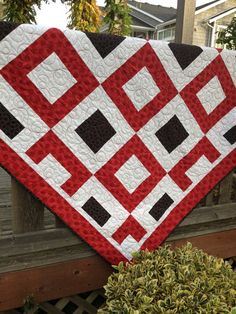 Jack of Hearts quilt pattern...fun, easy modern pattern with many variations. Use three colors or scraps!