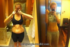 """Fit • Before & After (Height : 5'7"""", left photo : 142lbs, right photo : 131lbs)"""