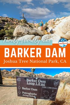 How to Hike Barker Dam Trail in Joshua Tree National Park, California by That Adventure Life. A short and easy trail in Joshua Tree NP, Barker Dam is nonetheless a fun and beautiful place to visit, especially when it is full of water. This family-friendly hiking trail is perfect for a Southern Californian day trip. A superb option for hiking in winter or spring. Include this outdoor adventure with a few other cool spots in Joshua Tree. Get all the details and more in this blog. Joshua Tree National Park, Us National Parks, Hiking Spots, Hiking Trails, Life Is An Adventure, Adventure Travel, Colorado Hiking, Winter Hiking, Adventure Activities