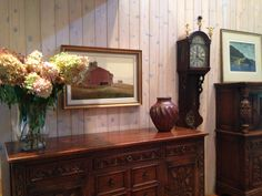 Watercress Springs Estate Sales GREENWICH CT ESTATE SALE - 12 Sidney Lanier Lane - October 28th to 30th - Carved Sideboard Hale Johnson Painting And Dutch Clock