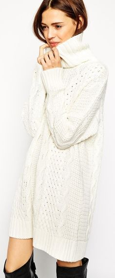 JOA - Foothills Blush Cable Knit Sweater Dress | 1B - knit dresses ...