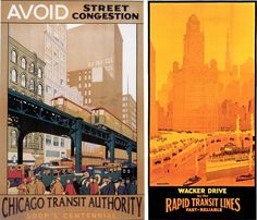 1920s Transit Posters: Chicago