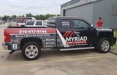 #roofing #construction #partialwrap #vehiclewrap #carwrap #truck #truckwrap Roofing Companies, Roofing Systems, Vehicle Wraps, Car Wrap, Trucks, Construction, Business, Vehicles, Building