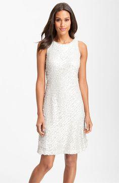 Donna Ricco Sleeveless Sequin Shift Dress | Nordstrom