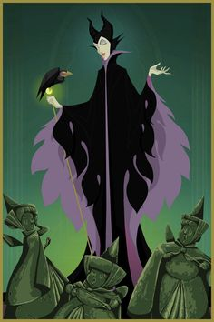A series of art created by Justin McTwisp called Happy Endings for Disney Villains feat. Sleeping Beauty