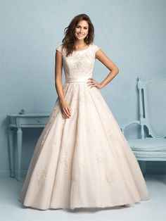 I love this dress, but in white. It's the Allure modest range M530.