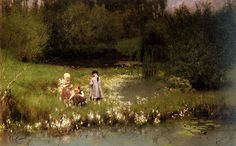 800px-Emile_Claus_-_Picking_Blossoms