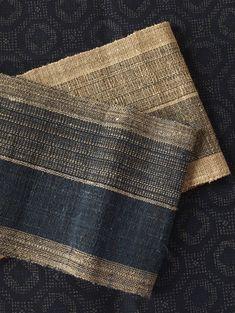 "Harue Nishikawa   ""Blue Reflection 2"" handwoven Japanese sash by cocoon_oharu, via Flickr"